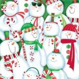 Großes Schneemanntreffen - Large snowman meeting - Grande réunion de bonhomme de neige