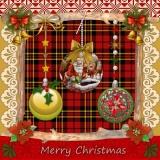 Hübsche Weihnachtscollage - Pretty Christmas Collage - Jolie Collage de Noël