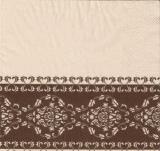 Braunes, hübsches Blattmuster - Brown, pretty leaf pattern - joli motif de feuille, brun