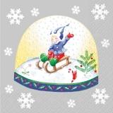 2 verschiedene Schneekugeln mit Kindern & Schneemann - 2 different snow globes with children and snowman - 2 globes de neige différentes avec les enfants et bonhomme de neige