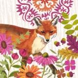 Fuchs mit Blumen & Blättern - Fox with flowers and foliage - Renard avec les fleurs et le feuillage