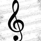 Noten, Musik, Notenschlüssel - Music, Clef - Musique, clé de notes