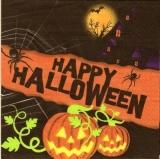 Happy Halloween mit Spinne, Kürbis & Fledermaus - with Spider, Bat & Jack-o-lantern - avec des araignées, chauve-souris & le Jack à la lanterne