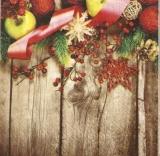 Weihnachtsdekoration auf Holz - Christmas decoration on wood - Décoration de Noël sur bois