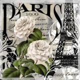 Paris 1900 -  Eiffelturm & Rosen - Eiffel Tower & Roses - Tour Eiffel et Rose