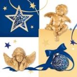 weihnachtsdekoration & 2 goldene Engel - Christmas decoration & 2 golden angels - Décoration de Noël et 2 anges dorés