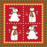 2 Winterfreunde, Schneemann und Eisbär - 2 Winter friends, snowman & polar bear - 2 amis dhiver, bonhomme de neige et lours polaire