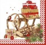 nostalgischer Schlitten, Geschenke, Vögel - nostalgic sleigh, gifts, birds - traîneau nostalgiques, cadeaux, oiseaux