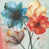Hübsch gemalte Blumen - Pretty Painted Flowers - Fleurs assez peintes
