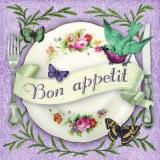 Bon appetit! - Wunderschöner Teller, Vogel & Schmetterlinge - Beautiful dish, Bird & Butterflies - Beau plat, doiseaux & papillons