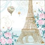 Paris, Heißluftballons, Eiffelturm, Rosen - Paris, hot air balloons, Eiffel Tower, Roses - Paris, montgolfières, Tour Eiffel, Roses