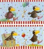 Kleiner Rabe Socke mit Ente - Little Raven Sock with duck - Petite chaussette Raven avec le canard