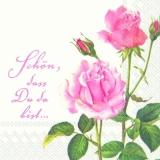 Rose für Dich: Schön, dass Du da bist.... - A Rose for you - Une rose pour vous