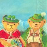 Asger,Bärenpaar in den Alpen, Bayern, Berge, bayerische Tracht -  - Bear couple in the Alps, Bavaria, Mountain, Bavarian national costume - Paire dours dans les Alpes, la Bavière, des montagnes, le c
