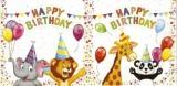 Elefant, Löwe, Giraffe & Panda feiern - Elephant, lion, giraffe & panda celebrate - Léléphant, lion, girafe & panda fêtent