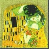 Gustav Klimt - Der Kuss - The kiss, gold