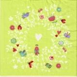 Blumen, Marienkäfer, Herzen & Vögel - Flowers, ladybirds, hearts & birds - Fleurs, coccinelles, coeurs & oiseaux