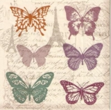 Paris, Eiffelturm, Schmetterlinge, Geschriebenes, Brief - Paris, Eiffel Tower, Butterflies, Writing, letter - Paris, Tour Eiffel, papillons, écrit, lettre