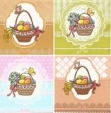 4 hübsche Osterkörbe - 4 pretty Easter baskets - 4 jolis paniers dEaster