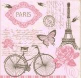 Rosen, Schmetterlinge, Vögel, Fahrrad, Eiffelturm in Paris - Roses, butterflies, birds, bicycle, Eiffel Tower in Paris - Roses, papillons, oiseaux, bicyclette, Tour Eiffel à Paris