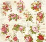 Nostalgische Rosenarrangements & Briefe - Nostalgic Rose Arrangements and letters - Lettres et arrangements de Roses nostalgique