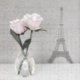 Pariser Rosen, Eiffelturm & Geschriebenes - Parisian Roses, Writing & Eiffel Tower - Roses parisiennes, Rédaction et Tour Eiffel