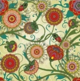 Aussergewöhnliches Blumenmuster - Unusual floral design - Modèle de fleurs extraordinaire
