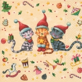 3 süße Weihnachtskätzchen - 3 cute x-mas kitten, cats - 3 noël chaton, chats mignon