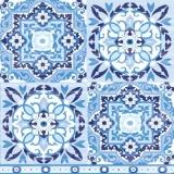 Muster in verschiedenen Blautönen, Kacheln - Pattern in different shades of blue, tiles - Motif dans différentes nuances de bleu, tuiles