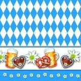 Münchner Oktoberfest, Edelweiss, Bayerische Brotzeit mit Brez n, Weizenbier, Weißwurst - Oktoberfest, Bavarian snack with pretzels, wheat beer, white sausage - Oktoberfest, casse-croûte bavarois avec