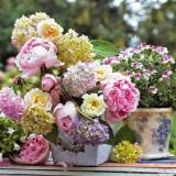 Blumenstrauß mit Hortensien & Pfingstrosen - Flower bouquet with hydrangea and peonies - Bouquet avec hortensia et pivoines