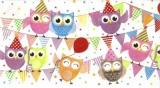 Eulen feiern - big owl party - grande partie des hiboux