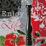 Pfeffermühle, Tometen, Oliven, mediterran Kochen - Enjoy Life, Peppermill, tomatoes, olives, Mediterranean Cooking  - Moulin de poivre, tomates, olives, la cuisine méditerranéenne