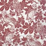 Eulen im Kastanienbaum, braun - Owls in a chestnut tree, brown - Hiboux dans le marronnier, brun