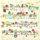 Noten, Musik, Weihnachtslied, Ihr Kinderlein kommet - Music, christmas carol - Musique, chant de Noël