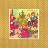Nostalgische Wiehnachtsbescherung, gold - Nostalgic Christmas presents, gold - Nostalgique de Noël présente, lor