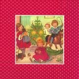 Nostalgische Wiehnachtsbescherung, rot - Nostalgic Christmas presents, red - Nostalgique de Noël présente, rouge
