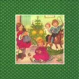 Nostalgische Wiehnachtsbescherung, grün - Nostalgic Christmas presents, green - Nostalgique de Noël présente, vert