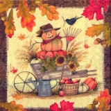Krähe, Kürbis, Laub, Sonnenblumen & Äpfel - Crow, pumpkins, leaves, sunflowers and apples - Corneille, citrouilles , feuilles, tournesols et pommes