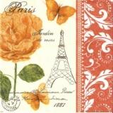 Post aus Paris, Schmetterlinge, Rose, Stempel, Muster - Post from Paris, butterflies, rose, stamp, pattern - Poster de Paris, papillons, rose, timbre, modèle
