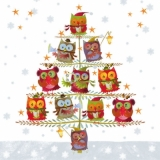 Ein Eulentannenbaum - A christmas owl tree - arbre de hibou de Noël