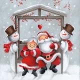 Herr & Frau Weihnachtsmann bei den Schneemanns - Mr. & Mrs. Santa Claus visiting the Snowmens - Père Noël et sa femme visitant le Bonhommes