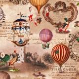 Nostalgie Collage mit Ballons, Kranich, Schwan, Enten, Burgen - Vinatge-Collage with Ballons, Ducks, Swan, Carne, Castles -  Collage nostalgique avec des ballons, grue, cygne, canard, châteaux