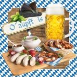 Brotzeit, Bier, Weißwurst, Bayern, Brezen, Brezel, Volksfest, Oktoberfest - Snack, beer, sausage, Bavaria,  pretzel, public festival, October party, Oktoberfest - Pause casse-croûte, bière, boudin bla