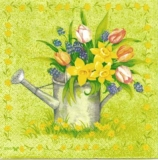 Blumen in Gießkanne - Flowers in watering can - Fleurs en arrosoir