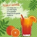 Tropisches Tequila Sunrise Rezept - Tropical Tequila Sunrise recipe - Recette de Tequila au lever du soleil