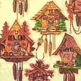 Aufwendig verzierte Kuckucksuhren, Wanduhren, Holzuhren - Elaborately decorated cuckoo clocks, wall clocks, wooden clocks - A grands frais les coucous décorés, les heures de mur, les heures de bois