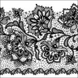 Blumen auf Spitze - Lace flowers - Fleurs de dentelle