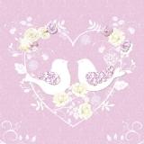 Herz, Rosen, Turteltauben - Heart, Roses, Turtle Doves - Coeur, roses, tourterelles