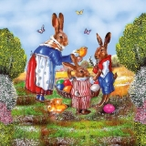 Hasenfamilie, Küken & Ostereier - Hare family, Chicks & easter eggs - Famille de lièvre, poussin & oeufs de Pâques